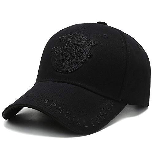 Baseball Kappe Snapback Cap HutNew Shield Stickerei Baseball Cap Tide Korean Fashion Caps Herren Baseball Cap Outdoor Sport Militärhüte Casual Wild Sun Hat Schwarzschwarz