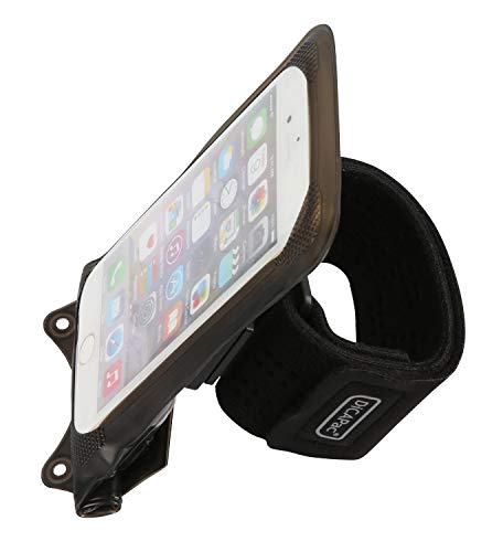 DiCAPac Action Sportarmband met grote telefoonhoes, waterdicht, GoPro-houder voor joggen en zwemmen, M-Horse Pure 1 / Pure 2 / Pure 3
