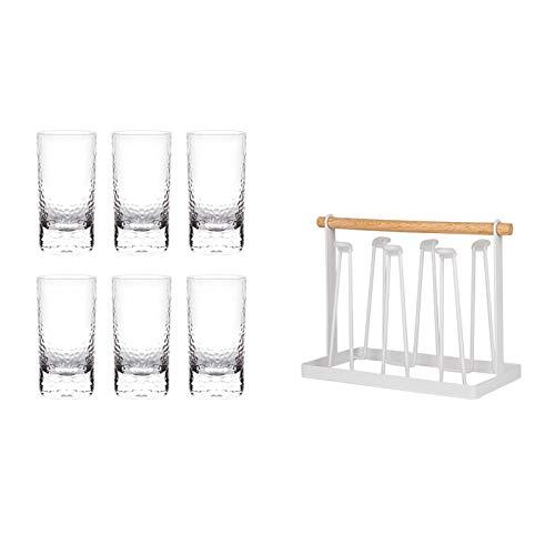 Sektgläser Beiläufig 310 Ml Bierglas 6-pc Mit Tassenhalter Champagner Glas Cocktail Glas Rotwein Glas Wasser Tasse Kristall Glas Haushalt Lostgaming (Color : A)