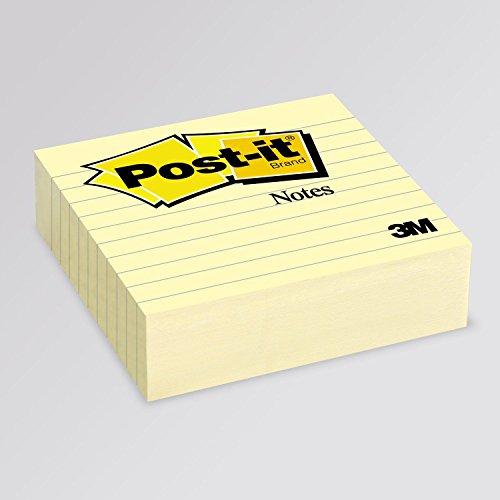 Colore Giallo Canary Post-it 81369 Foglietti Super Sticky Confezione da 12 Blocchetti con Film Singolo da 90 Fogli, 70-75 g//m/²