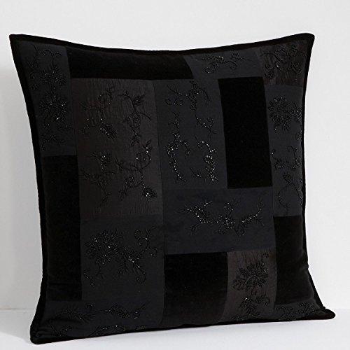 Ralph Lauren Lauren Quilted and Beaded Black Bohemian European Pillow Sham