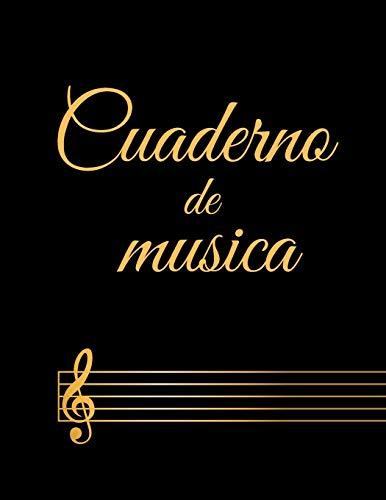 Cuaderno de musica: Cuaderno De Música Pentagramado, Con 8 Pentagramas Por Página,...