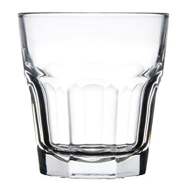 Libbey 15243 Gibraltar DuraTuff 12 oz Double Rocks Glass , SET OF 6 w/ FDL Party Picks