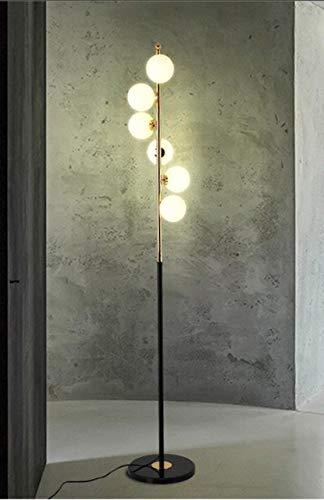 DSENIW QIDOFAN stehleuchte Nordic einfache stehleuchte Wohnzimmer Glas Ball Schlafzimmer kreative Kunst Dekoration Lampe Innen (Lampshade Color : Black)