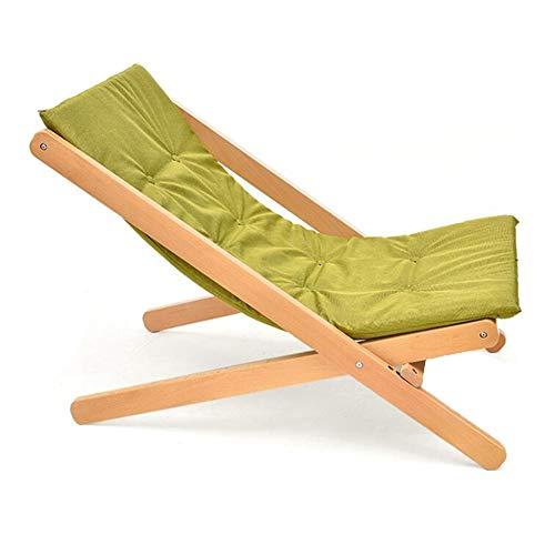 QIDI Chaise Pliante Tabouret Pliant Chaise de Pont Déjeuner Chaise Chaise en Bois Massif Simple Moderne Pliable Facile à Transporter Bureau Ménage Balcon (Couleur : Matcha)