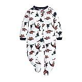 Pijama para bebé niña, de algodón, doble cremallera, de manga larga, cálida, pijama para ropa interior