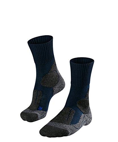 FALKE TK1 Cool M So Chaussettes de randonnée Homme, Bleu (Marine 6120), 42-43 (UK 8-9 Ι US 9-10)