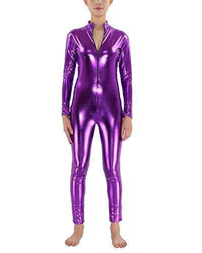 Unisex Adulto Cosplay Ropa Invisible Vestido Carnaval Morado M