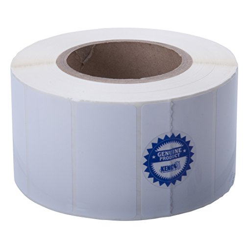Kenco Premium Inkjet 3? X 1.5? Rectangle High Gloss Paper Roll-Fed Inkjet Labels. Compatible with Primera Color Label Printers and Many Other Printer Brands. Supplied 1600 Labels on a 3? core.