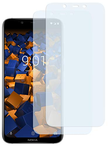 mumbi Schutzfolie kompatibel mit Nokia 8.1 Folie klar, Bildschirmschutzfolie (2X)