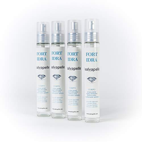Set 4 Acqua Spray Idratante Profumato FORT IDRA con Acido Ialuronico Antieta'