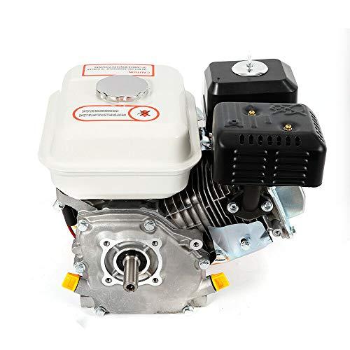 4Takt 7,5Ps Benzinmotor Geringer Kraftstoffverbrauch, Standmotor Kartmotor Motor Geneigter Einzylinder Ohv Horizontale Welle Luftkühlung (farbe: Weiß)