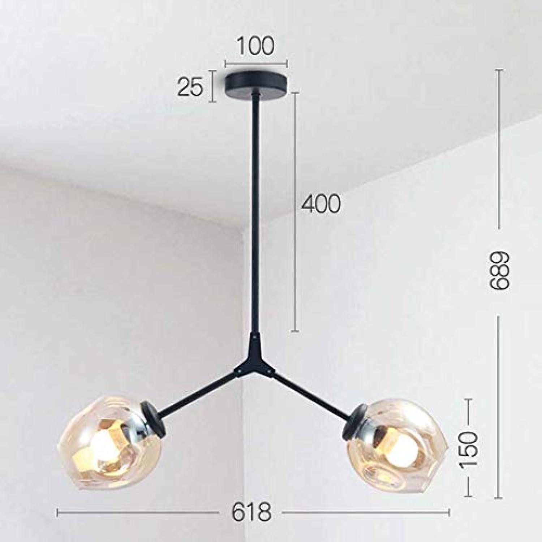 Plafonnier de lustre pendentif nordique créatif, lumière pendentife de boule de verre E27 pour le café de barre de salle à hommeger, 110-220V maximum 40W,20
