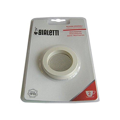 Bialetti 800002 Espressokocher, Aluminium, Weiß