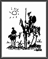 ポスター パブロ ピカソ ドンキホーテ 額装品 ウッドベーシックフレーム(ブラック)