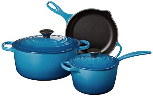 Le Creuset Enameled Cast Iron Signature Cookware Set, 5 pc. , Marseille