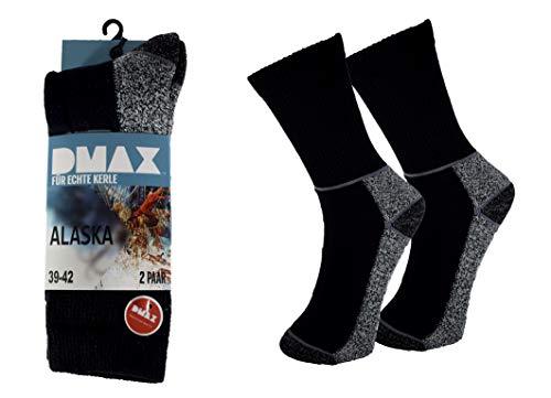 DMAX Alaska Thermosocken für echte Kerle - 4 6 12 Paar - wahlweise in Schwarz, Anthrazit, Blau und drei Größen 39-42/43-46/47-50 (39-42, 4 Paar Anthrazit)