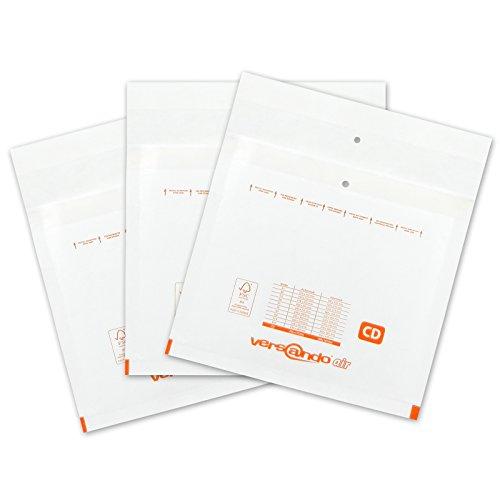 Versando 100 Luftpolsterversandtaschen Versando CD,  200 x 175 mm außen, weiß
