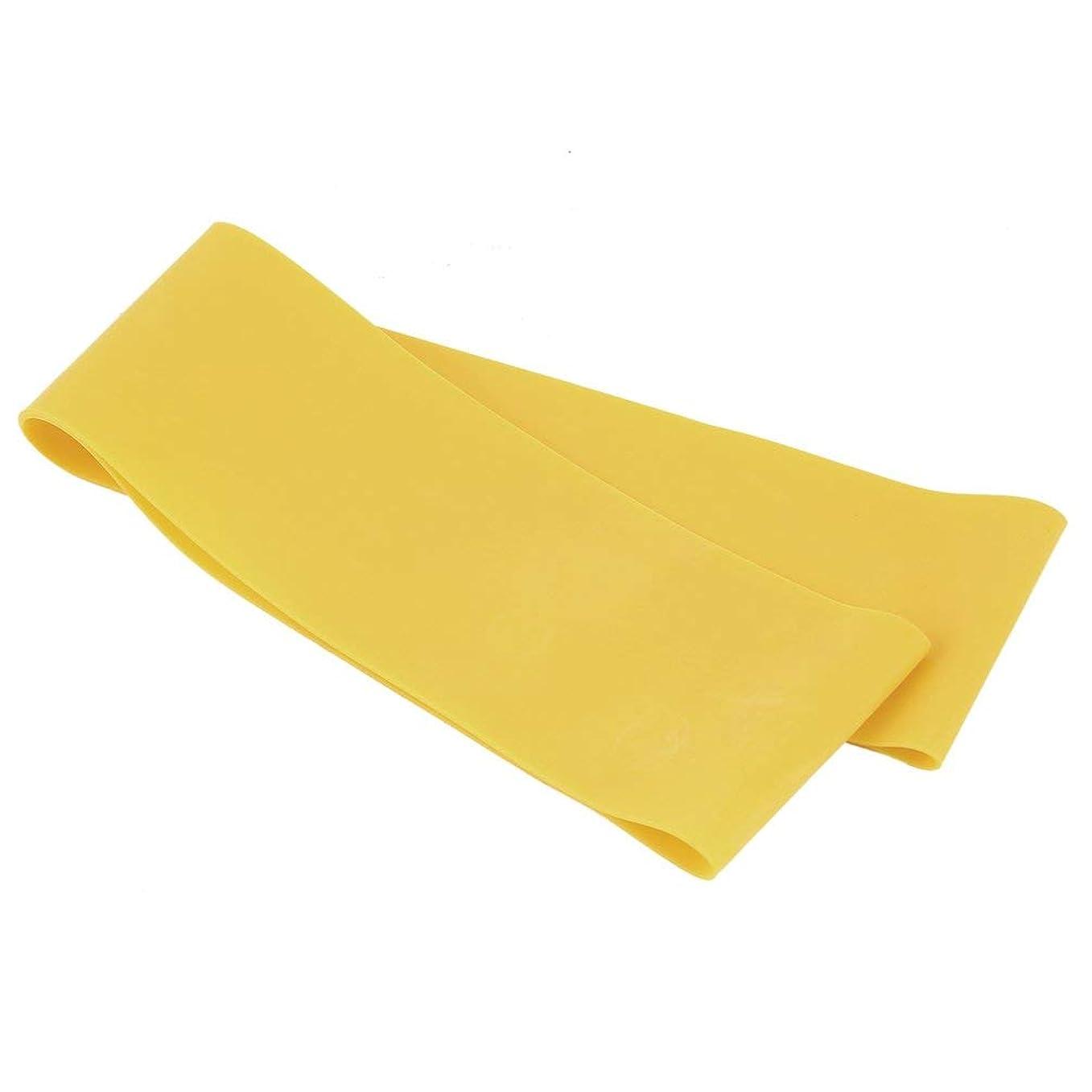 悲惨オートメーションめる滑り止めの伸縮性のあるゴム製伸縮性があるヨガのベルトバンド引きロープの張力抵抗バンドループ強さのためのフィットネスヨガツール - 黄色