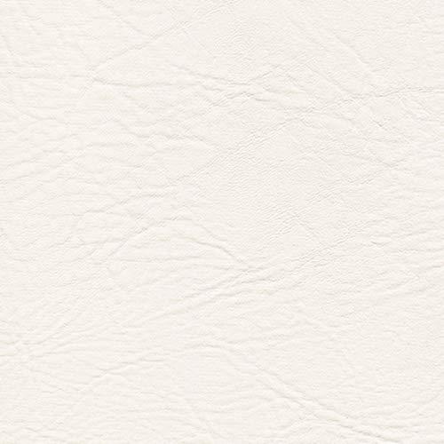 Neptune Kunstleder Boot Auto Möbel Sitzbezug Meterware PVC Bezugsstoff hochwertig, Farbe: Blanco