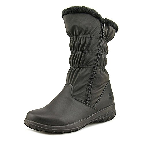 totes Women's Comfort Snow Boot, Black, 7 US Wide Calf