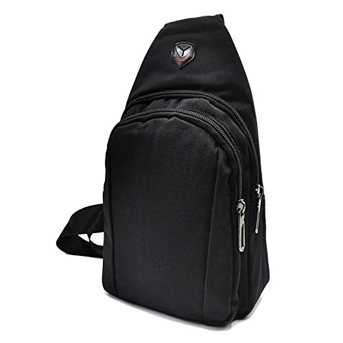 AHR Quality Backpack Messenger Bag Small Backpack Women Men Black Triangular Bag Backpack for Motorcycle