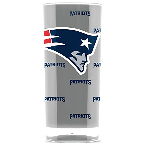 NFL New England Patriots 16oz Insulated Acrylic Square Tumbler