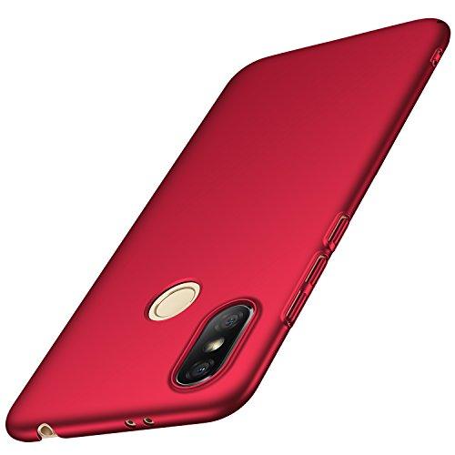 anccer Xiaomi Redmi S2 Hülle, [Serie Matte] Elastische Schockabsorption & Ultra Thin Design für Xiaomi Redmi S2 (Glattes Rot)