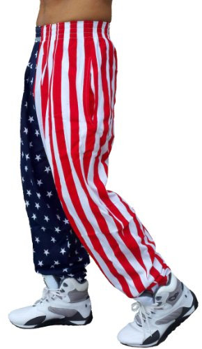 Best Form American Flag Pants (Large, American Flag)