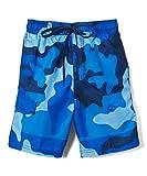 Kanu Surf Boys' Little Viper Quick Dry UPF 50+ Beach Swim Trunk, Surf Camo Navy, 5/6