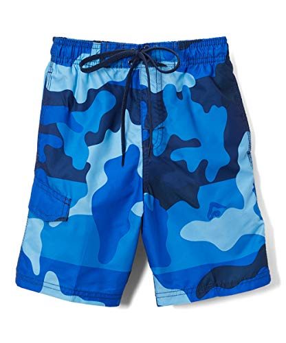 Kanu Surf Boys' Little Viper Quick Dry UPF 50+ Beach Swim Trunk, Surf Camo Navy, 7