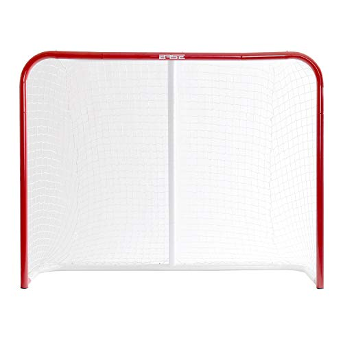 "Base Unisex Jugend Streethockeytor 54"" (137x112x51cm) I klappbar I Outdoor Metallrahmen Garten I Tor für Hockeybälle & Pucks I Streethockey-Training, Rot"