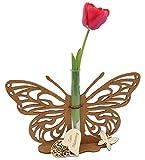 Kreativknoten Aufsteller – Tischdeko/Schmetterling mit filigranen Schnittmuster und Einem Reagenzglas als Minivase