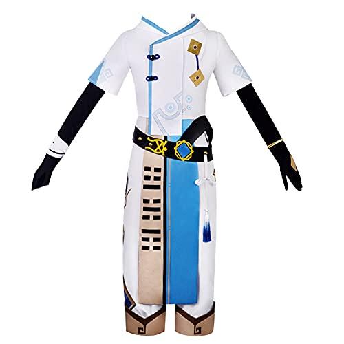 Game Genshin Impact Cosplay Costume Chongyun Frozen Ardor Suits Uniform (M) Blue
