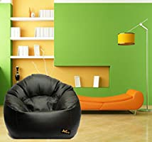 VSK Bean Bag XXXL Sofa Mudda Cover Black (Without Beans) Cover only