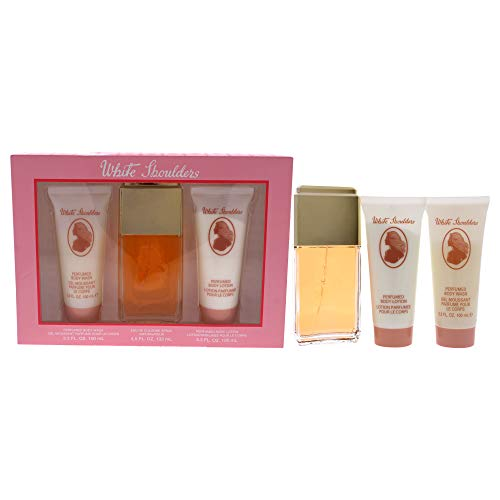 White Shoulders by Evyan, 3 Piece Gift Set for Women