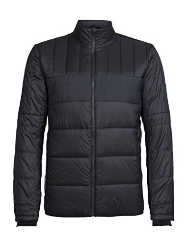 icebreaker Herren Stratus X Jacket Jacke, Black/Jet Hthr, L