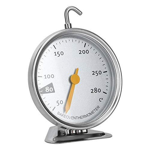 Aufee Küchenkochgeräte, Edelstahl-Safe-Ofen-Thermometer, großes Zifferblatt-Design, für Küchenbacken zum Backen zu Hause