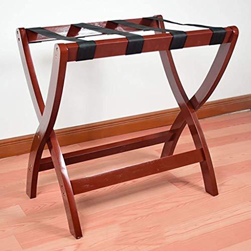 CENPEN Portaequipajes, soporte plegable para maleta de madera maciza, para habitación de hotel, para equipaje