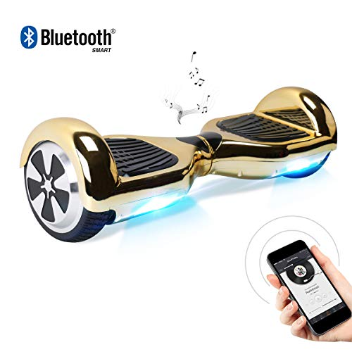 BEBK Hoverboard, 6.5 Zoll Self Balancing Scooter mit Bluetooth Lautsprecher - Tragetasche - LED Lights Elektro Scooter