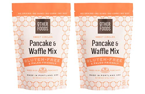 Other Foods Gluten-free Pancake and Waffle Mix, Paleo Friendly 100% Grain Free, Corn Free, No Refined Sugar or Soy and No Almond Flour 2 pack