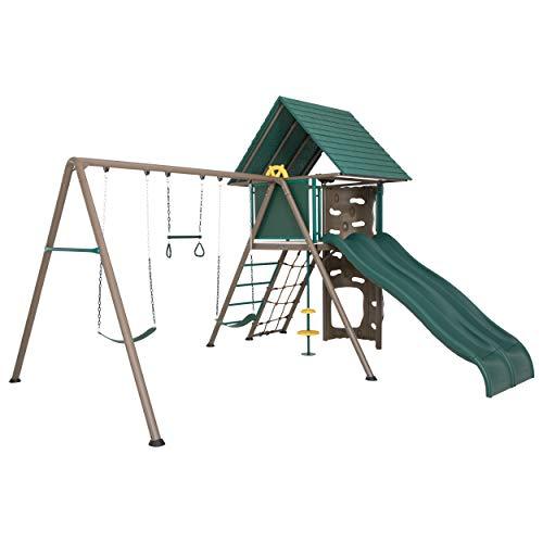 Lifetime 90797 Big Stuff Adventure Swing Set, Brown/Green