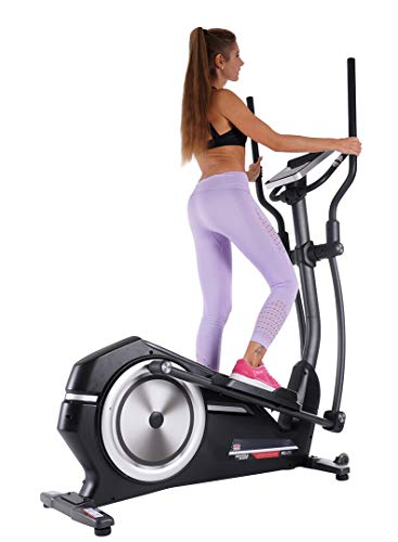 Klarfit ORBIFIT Basic Cross Trainer Home Trainer Obstrucción, Brazo Regulable, Pantalla: Ajustable (con Ordenador de Entrenamiento, Consumo de calorías), Negro