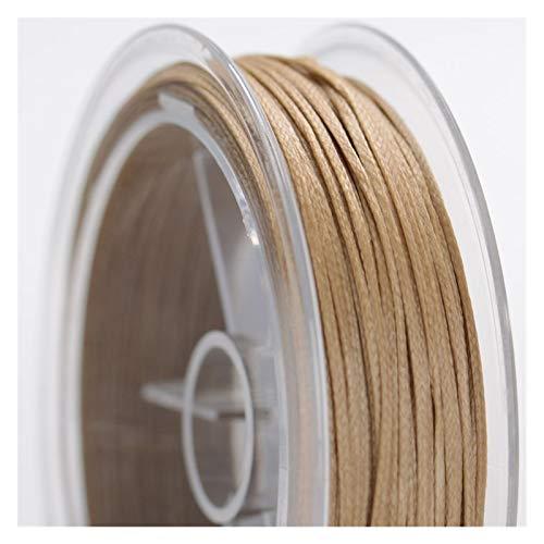 YJZZ Alambre de Abalorios de 0,8 mm de Ancho Alambre de Cera Plana Tejido a Mano Pendiente Recomendado Macrame Rope Braided DIY Wire (Color : Dark Khaki)