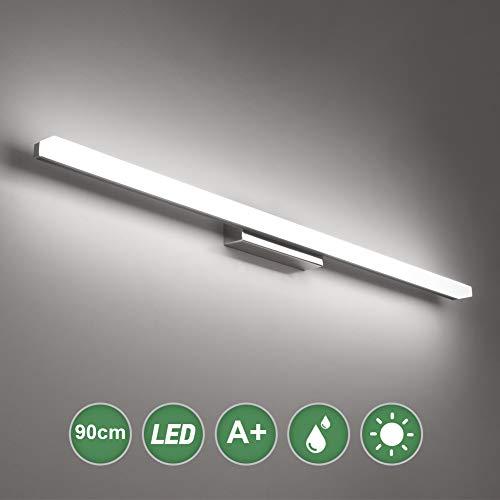 Klighten Spiegelleuchte,20W Bad Spiegellampe LED Wandleuchte, 90CM Badezimmer Badlampe für Spiegel 6000K Kaltes Weiß Badspiegel Lampe
