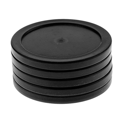 Fenteer 5 Pieces 62mm Plastic Air Hockey Table Pucks for Game Tables, Equipment, Accessories - Black