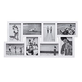 Malden International Designs Puzzle Collage Picture Frame 8 Option 8-4x6 White