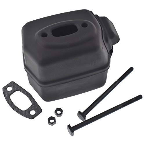 Ineedtech Exhaust Muffler Gasket Bolts Nuts Kit for Husqvarna 50, 51, 51 EPA, 55, 55 EU1, 55 EPA, 55 Rancher, 154, 254 Chainsaws, Replaces OEM # 503749103 & 503749101