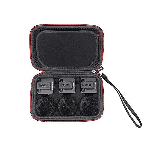 RLSOCO Tasche für RØDE Wireless GO II/RØDE Wireless GO Compact Mikrofonsystem kabellos(Schwarz)