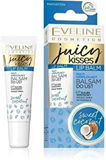 Eveline Juicy Kisses Lip Balm Sweet Coconut, 12 ml
